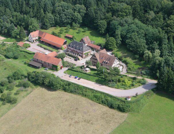 Luftbild Schafhof ohne Tennisplatz